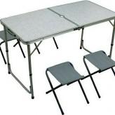 Туристический складной стол + 4 стула