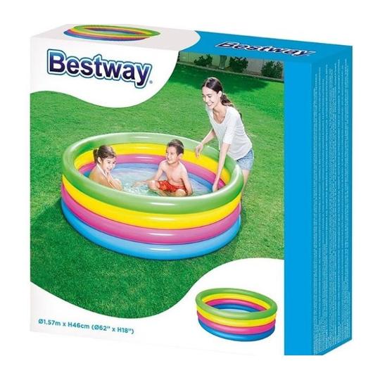 Бассейн надувной детский ''разноцветный''