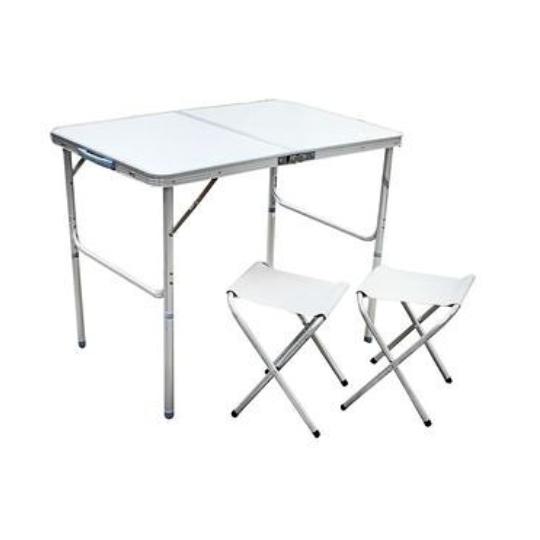Складной стол + 2 стула