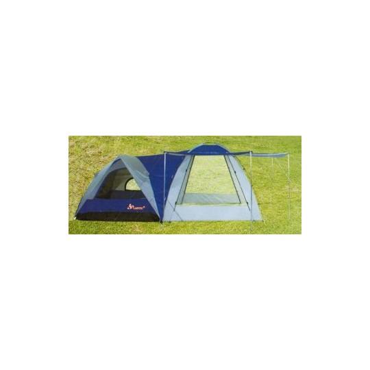 Палатка 4-х местная с шатром LanYu 1706 480х240х195см 10261