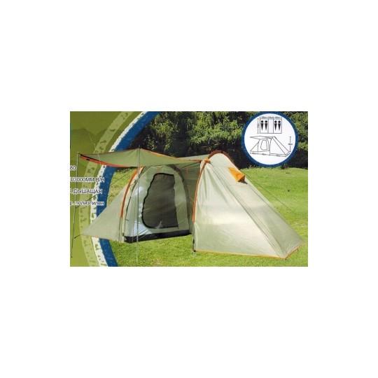 Палатка 4-х местная с 2 комнатами LanYu 1913 440х230х180см