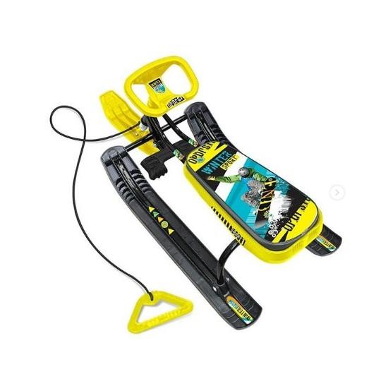 """Снегокат """"Тимка спорт2"""" Граффити желтый (высота 540 мм) ТС1/ГЖ"""