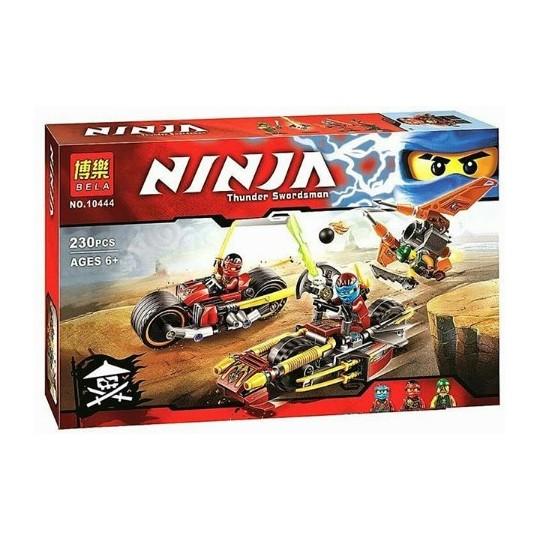 "Конструктор аналог LEGO Ninjago 70600 BELA ""Погоня на мотоциклах"" 230 деталей"
